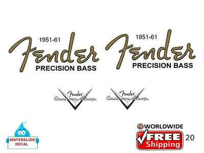 Fender Precision Bass Guitar Decal Headstock Inlay Decal Restoration Logo 20