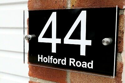 ACRYLIC Contemporary HOUSE SIGNS / PLAQUES / DOOR NUMBER