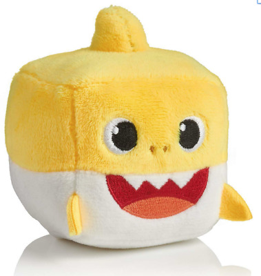 WowWee Pinkfong Baby Shark Official Singing Plush Cube Yellow Baby Shark Song