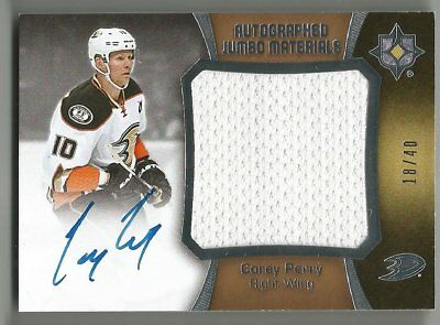63bfb532008 2015-16 UD ULTIMATE Collection Kevin Fiala Auto Jumbo Materials. #'d ...