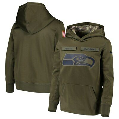 new concept 48071 306c8 NWT NIKE SEATTLE Seahawks Men's Salute to Service Sweatshirt Hoodie MEDIUM  $100