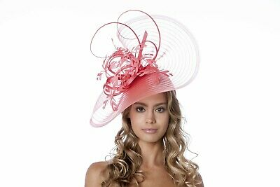 Stunning Sinamay large statement  Hatinator for Wedding,races,occasion..ascot