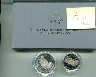 Mount Rushmore 1991 2 Coin Commemorative Set Proof 190L