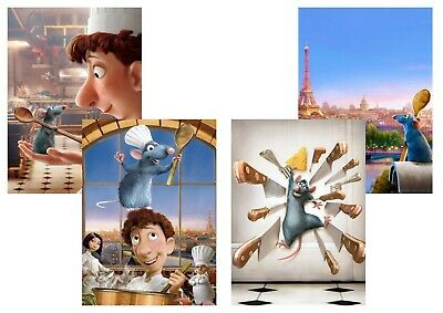 Walt Disney Ratatouille: A5 A4 A3 Textless Movie DVD posters