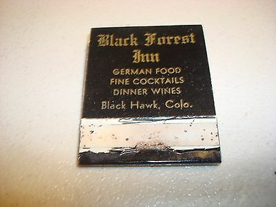Rare Vintage Matches Black Forest Inn German Food Black Hawk CO USA Original!