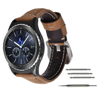 Genuine Leather Band Strap For Samsung Watch Galaxy Gear S3 Frontier or Classic