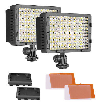 Neewer 2pz Pannello Luce LED CN-160 Dimmerabile per Fotocamere Videocamere