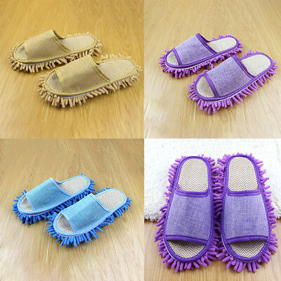 1 Pair Creative Floor Shoes Mop Slippers Lazy Quick Polishing Cleaning Dust IN9