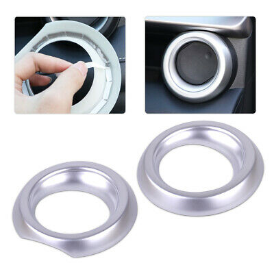 2x Chrome Front Air Vent AC Outlet Ring Cover Trim fit for Toyota RAV4 2016 2017