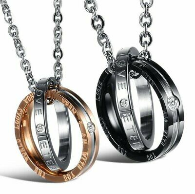 MENDEL Engagement Ring Couple Lover Necklace Relationship Girlfriend Love Charm