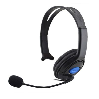Wired Headset Live Gaming Single Ear Headphone with Mic for Xbox One/ PS4 NEW KL