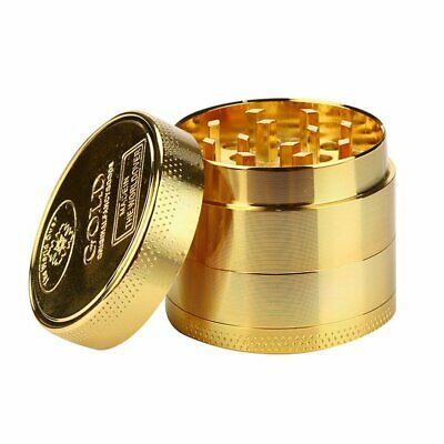 40MM Gold Tobacco Crusher Metal Tobacco Herb Spice Grinder Spice Mill 4 Layers