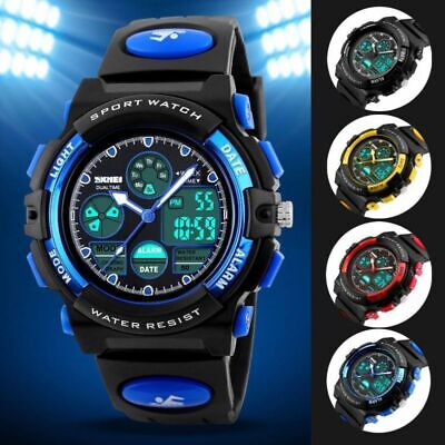 Mens Waterproof SKMEI Digital Sports WatchWater Resistant Army Military Watches