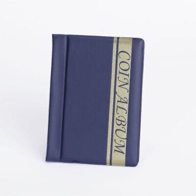 120 Pockets Coin Holder Collection Coin Storage Album Book For Collectors - Blue