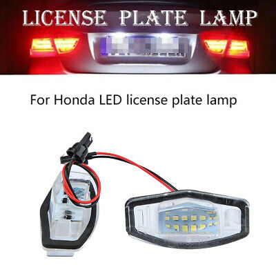 2X 18 LED License Plate Light Direct Fit For Honda Civic Accord City 2003-09 CHZ