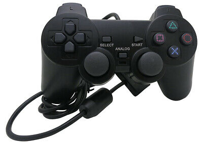 Mando con vibracion cable compatible con PlayStation II 2 PS2/ PS One / PSII PS1