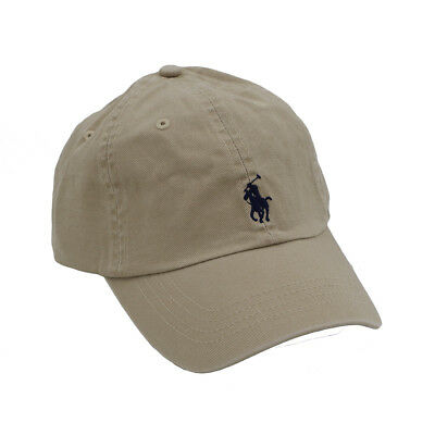 513af4b54fb RL Polo Men Classic Embroidered Pony Cotton Chino Baseball Cap Adjustable  Hat