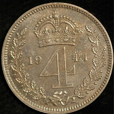 Maundy Fourpence George VI 1943 (Tray 112)