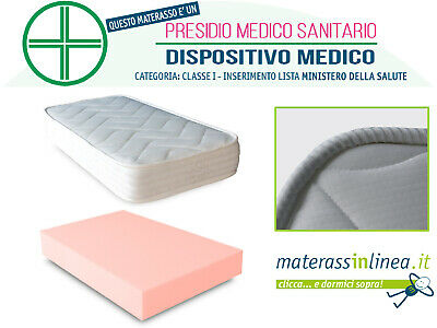 Materasso Per Culla Bambini In Waterfoam, Ortopedico, Antiacaro
