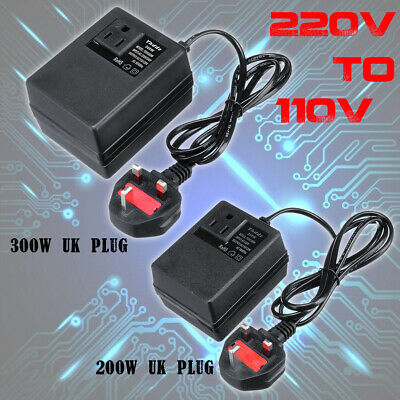 200W/300W Voltage Converter Transformer 220V To 110V AC Step Down Travel UK EU