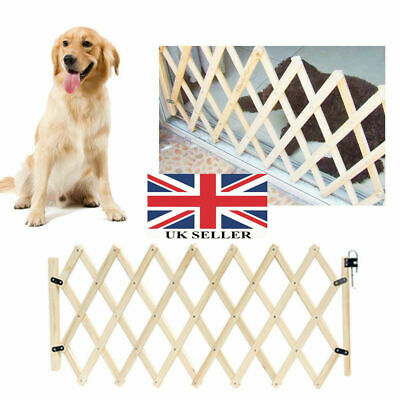 Folding Baby Gate Safety Fence Child Protection Wood Door Dog Cat Pet Barrier UK