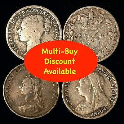 Threepence Victoria 1887 - 1901 Silver  Choose Your Date
