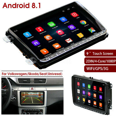 """9"""" Android 8.1 Car Radio Stereo Wifi 2 Din GPS Navigation For VW Skoda Seat Golf"""