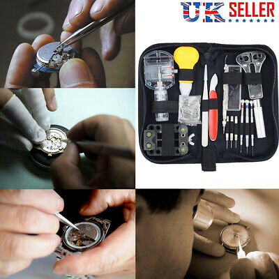 144pcs Watch Repair Tool Kit Watchmaker Back Case Remover Opener Spring Pin Set