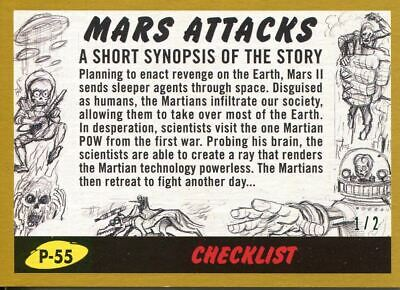 Mars Attacks The Revenge Gold [2] Base Card P-55 (Checklist)