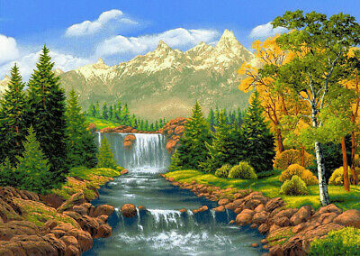 Full Drill Landscape 5D Diamond Painting Hand Embroidery Kit Cross Stitch Decor