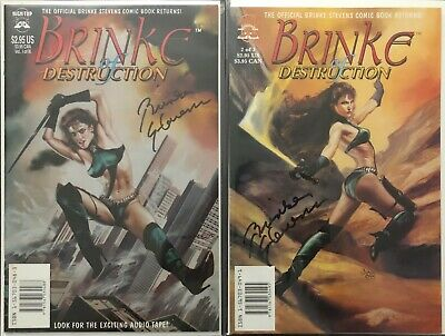 Brinke of Destruction BRINKE STEVENS SIGNED Comic Book