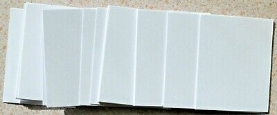26 Pieces Bright White Pearl Card 62mm x 48mm NEW