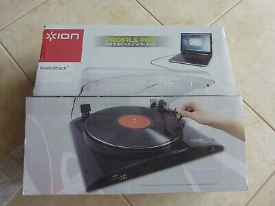 ION Profile Pro USB TURNTABLE Vinyl Record Player to MP3 Converter USED ONCE