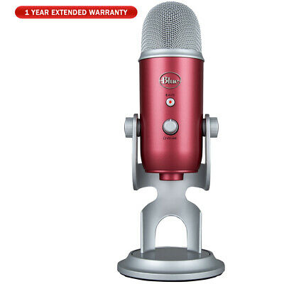 BLUE MICROPHONES Yeti USB Microphone Red + 1 Year Extended Warranty Bundle