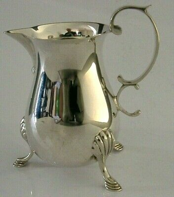 QUALITY ENGLISH SOLID STERLING SILVER CREAM JUG 1986 HEAVY 103g
