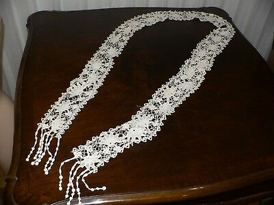Antique Irish Crochet Lace Lappet