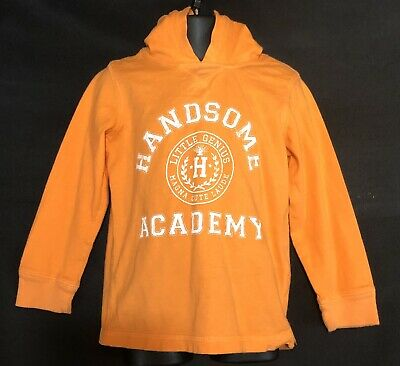 Carter's Boys LongSleeve Size 3T Hooded Pullover Orange White 100% Cotton GUC
