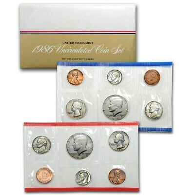 1986 United States Uncirculated Mint set