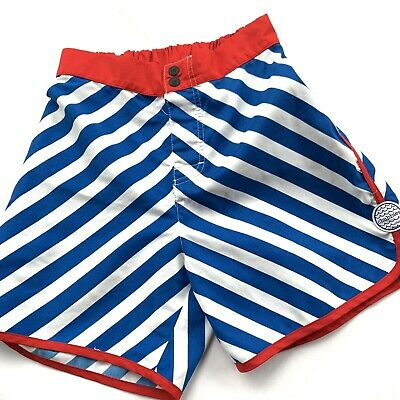 35fe3ae374 Chubbies Red White & Blue Striped Swim Shorts Elastic Waist Trunks Stretch