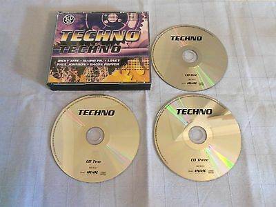 Techno (3xCD) Mario Piu Paul Johnson Bacon Popper Strobe Hardfloor Horrorscope