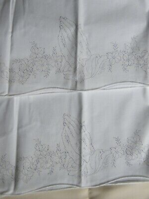 Cotton Stamped Praying Hands Embroidery Pillow Case Set, & 42x15 Table Runner
