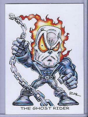 Super Skrull ** Trading Card Art Signed By Rak ** Marvel Comics ** Near Mint Collectibles Non-sport Trading Cards