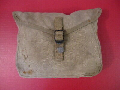 WWII Era US Army M1928 Haversack Meat Can or Mess Kit Pouch - Khaki - Nice #4