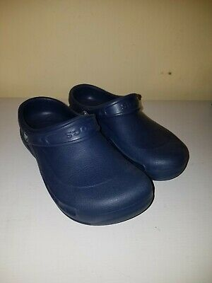 b7857783af0c Crocs Unisex Blue Clogs Slip On Shoes Sz Mens 7 Womens 9 Navy Blue