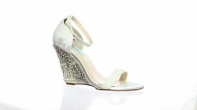 03e27afddf53 Blue by Betsey Johnson Womens Alisa Ivory Ankle Strap Heels Size 8.5  (190042)