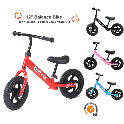 Birtech Kids Balance Bike Metal Running Walking Training Bicycle Boys Girls Gift