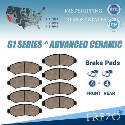 Front Rear Ceramic Brake Pads Fit 2002-2004 Ford Expedition Lincoln Navigator
