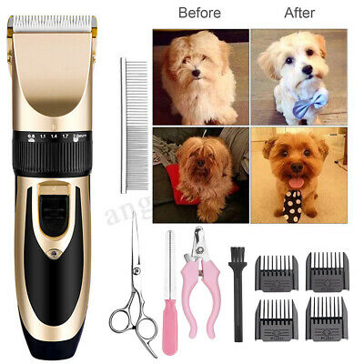 Pet Dog Cat Professional Nail Grooming Clippers Kit Hair Trimmer Groomer Set US