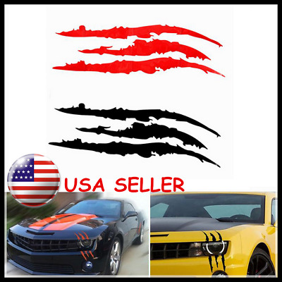 Cool Headlight Scratch Stripe Decal Sticker Claw Stripe Slash Truck Car Vinyl HQ