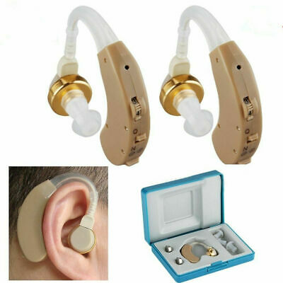1 Pair Digital Hearing Aids Kit Behind/In the Ear Tone Sound Voice Amplifier Aid